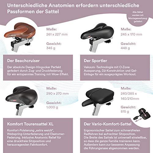 skandika Ergometer Hometrainer Elskling, Auswahl aus verschiedenen Sätteln, Magnetbremssystem, 11 kg Schwungmasse, 24 Trainingsprogramme, Tablet-Halterung, Bluetooth und App-Steuerung - 3