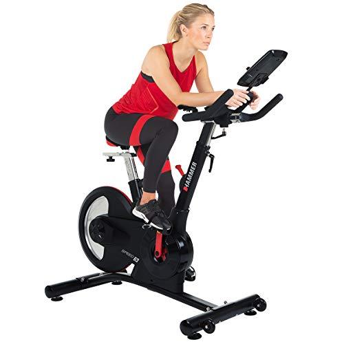 HAMMER Speed Racer S, Speedbike, Indoor Cycle, 22 kg Schwungmasse, LCD-Screen + APP-Steuerung für Smartphone, Bluetooth Anbindung, kompatibel mit: iConsole+, Kinomap und BitGym - 4