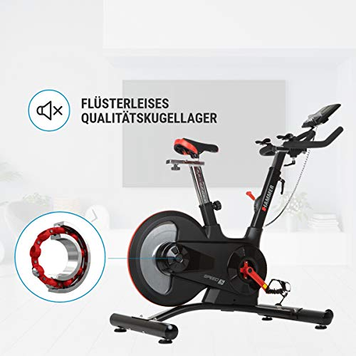 HAMMER Speed Racer S, Speedbike, Indoor Cycle, 22 kg Schwungmasse, LCD-Screen + APP-Steuerung für Smartphone, Bluetooth Anbindung, kompatibel mit: iConsole+, Kinomap und BitGym - 5