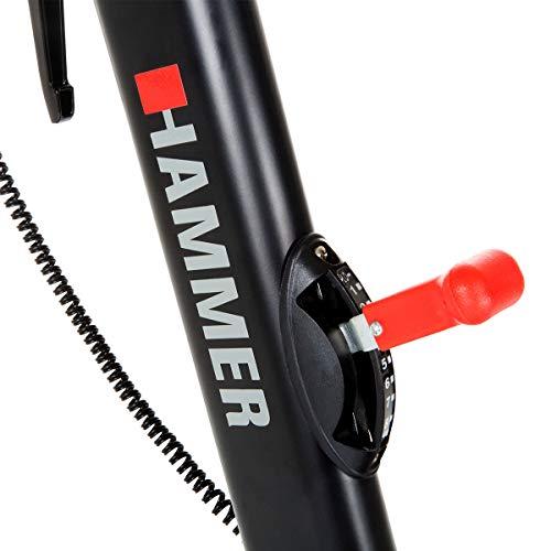 HAMMER Speed Racer S, Speedbike, Indoor Cycle, 22 kg Schwungmasse, LCD-Screen + APP-Steuerung für Smartphone, Bluetooth Anbindung, kompatibel mit: iConsole+, Kinomap und BitGym - 6