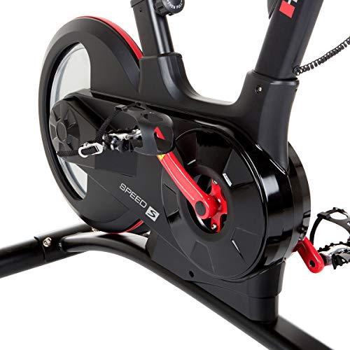 HAMMER Speed Racer S, Speedbike, Indoor Cycle, 22 kg Schwungmasse, LCD-Screen + APP-Steuerung für Smartphone, Bluetooth Anbindung, kompatibel mit: iConsole+, Kinomap und BitGym - 7