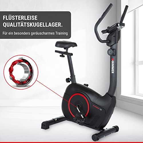 HAMMER Heimtrainer Cardio T3, geringer Einstiegs-Widerstand, besonders leises Fitnessfahrrad, Comfort-Sattel, geeignet als Heimtrainer für Senioren, Tablethalterung, 90 x 46 x 137 cm - 7