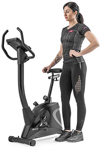 Hop-Sport Heimtrainer Fahrrad HS-005H - Ergometer mit 12 Trainingsprogrammen, 16 computergesteuerten Widerstandsstufen - Fitnessbike max. Nutzergewicht 150 kg Grau - 2