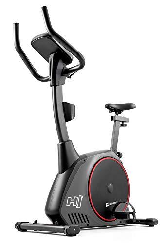 Hop-Sport Heimtrainer Fahrrad HS-095H inkl. Unterlegmatte - Ergometer mit App-Steuerung, 12 Trainingsprogrammen, 32 Widerstandsstufen, Schwungmasse 13,5 kg - Fitnessbike max. Nutzergewicht 135 kg Grau - 4