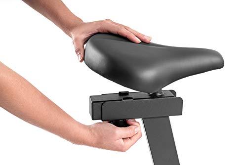 Hop-Sport Heimtrainer Fahrrad HS-095H inkl. Unterlegmatte - Ergometer mit App-Steuerung, 12 Trainingsprogrammen, 32 Widerstandsstufen, Schwungmasse 13,5 kg - Fitnessbike max. Nutzergewicht 135 kg Grau - 9