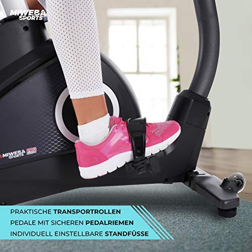 Miweba Sports Ergometer ME500 Trimmrad Cardio Heimtrainer - Streaming App - 14 Kg Schwungmasse - Magnetbremse - Pulsmesser (ME500) - 9