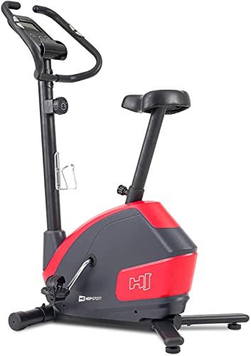Hop-Sport Heimtrainer Fahrrad HS-035H Leaf - Fitnessbike für Zuhause mit Pulssensoren und Computer, Magnetbremse, Schwungmasse 8 kg - Ergometer für EIN max. Nutzergewicht von 135kg Rot - 2