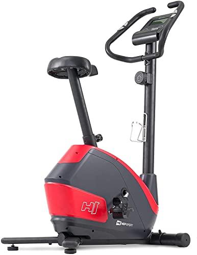 Hop-Sport Heimtrainer Fahrrad HS-035H Leaf - Fitnessbike für Zuhause mit Pulssensoren und Computer, Magnetbremse, Schwungmasse 8 kg - Ergometer für EIN max. Nutzergewicht von 135kg Rot - 3