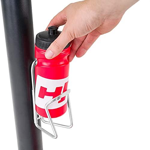 Hop-Sport Heimtrainer Fahrrad HS-035H Leaf - Fitnessbike für Zuhause mit Pulssensoren und Computer, Magnetbremse, Schwungmasse 8 kg - Ergometer für EIN max. Nutzergewicht von 135kg Rot - 9