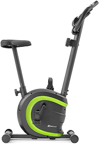 Hop-Sport HS-015H Heimtrainer Fahrrad für Zuhause - kompaktes Fitnessbike ideal für Senioren - Fitnessfahhrad mit Trainingscomputer für EIN max. Nutzergewicht von 120kg Limettengrün - 4