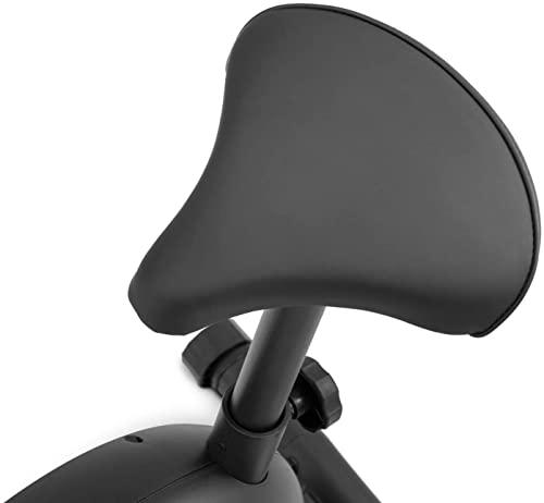 Hop-Sport HS-015H Heimtrainer Fahrrad für Zuhause - kompaktes Fitnessbike ideal für Senioren - Fitnessfahhrad mit Trainingscomputer für EIN max. Nutzergewicht von 120kg Limettengrün - 7