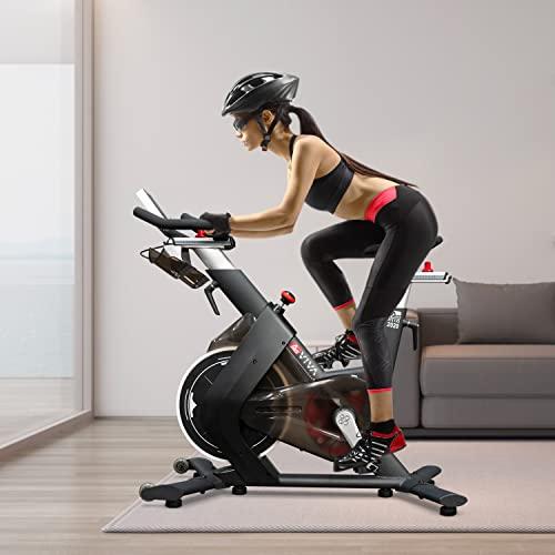 AsVIVA Indoorcycle Speedbike, S15 Bluetooth, Fitness-Bike (inkl. SPD Klicksystem), 27kg Schwungmasse, Pulsempfänger (inkl. Brustgurt), leiser Riemenantrieb, Indoor Cycle, schwarz - 2