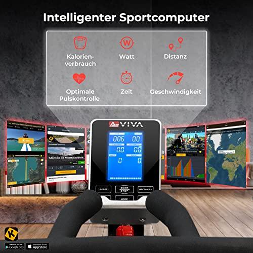 AsVIVA Indoorcycle Speedbike, S15 Bluetooth, Fitness-Bike (inkl. SPD Klicksystem), 27kg Schwungmasse, Pulsempfänger (inkl. Brustgurt), leiser Riemenantrieb, Indoor Cycle, schwarz - 3