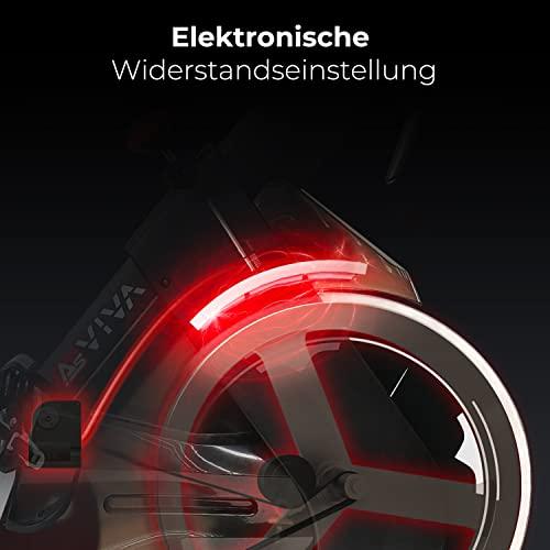 AsVIVA Indoorcycle Speedbike, S15 Bluetooth, Fitness-Bike (inkl. SPD Klicksystem), 27kg Schwungmasse, Pulsempfänger (inkl. Brustgurt), leiser Riemenantrieb, Indoor Cycle, schwarz - 4