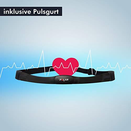 AsVIVA Indoorcycle Speedbike, S15 Bluetooth, Fitness-Bike (inkl. SPD Klicksystem), 27kg Schwungmasse, Pulsempfänger (inkl. Brustgurt), leiser Riemenantrieb, Indoor Cycle, schwarz - 7