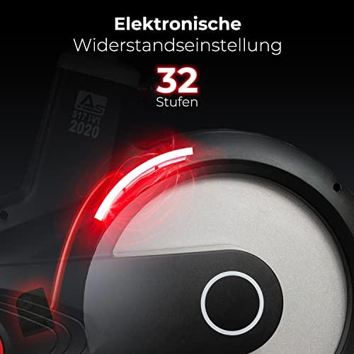 AsVIVA Indoor Cycle Speedbike S17 Studio Pro Bluetooth, 28kg Schwungmasse, computergesteuertes Bremssystem, leiser Riemenantrieb, SPD-klick Pedale, Pulsempfänger inkl. Polar Pulsgurt, Heimtrainer - 5