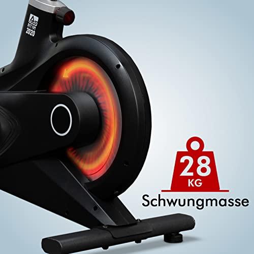 AsVIVA Indoor Cycle Speedbike S17 Studio Pro Bluetooth, 28kg Schwungmasse, computergesteuertes Bremssystem, leiser Riemenantrieb, SPD-klick Pedale, Pulsempfänger inkl. Polar Pulsgurt, Heimtrainer - 7
