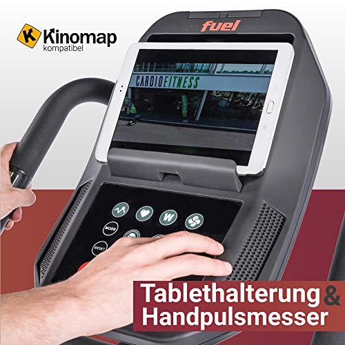 Fuel Fitness FE900 Profi-Ergometer, Ergometer für zuhause, Fitnessstudio, Sportverein, Nutzergewicht bis 160kg, 11,7kg Schwungrad, leiser Riemenantrieb, LED-Computer KIONOMAP, inkl. Pulsgurt - 7