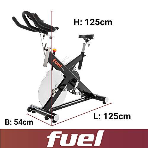 Fuel Fitness IF700 Indoor Cycle, Indoor Cycle für zuhause, 20kg Schwungrad, leiser Riemenantrieb, LCD-Radcomputer mit App-Anbindung, optimaler Rundlauf, Nutzergewicht bis 150kg - 4