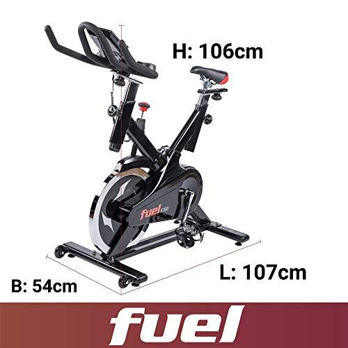 Fuel Fitness IF300 Indoor Cycle, Indoor Cycle für zuhause, 18kg Schwungrad, Kettenantrieb, LCD-Radcomputer mit App-Anbindung, optimaler Rundlauf, Nutzergewicht bis 125kg - 2