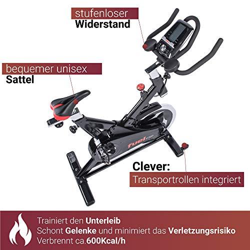Fuel Fitness IF300 Indoor Cycle, Indoor Cycle für zuhause, 18kg Schwungrad, Kettenantrieb, LCD-Radcomputer mit App-Anbindung, optimaler Rundlauf, Nutzergewicht bis 125kg - 5