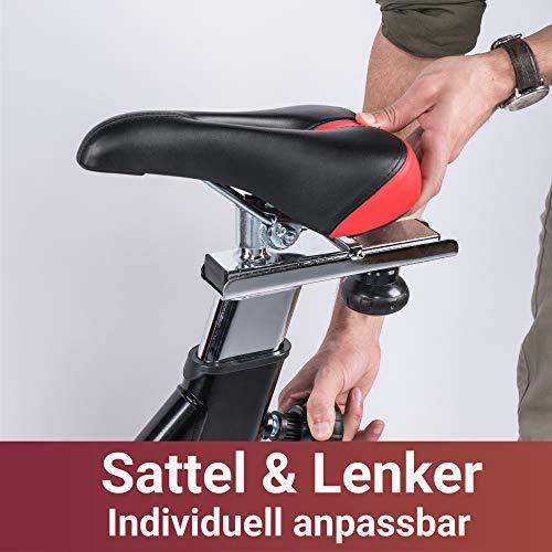 Fuel Fitness IF300 Indoor Cycle, Indoor Cycle für zuhause, 18kg Schwungrad, Kettenantrieb, LCD-Radcomputer mit App-Anbindung, optimaler Rundlauf, Nutzergewicht bis 125kg - 6