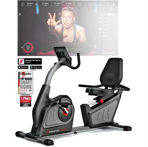 Sportstech ES600 Liegeergometer mit APP Steuerung und integriertem Stromgenerator