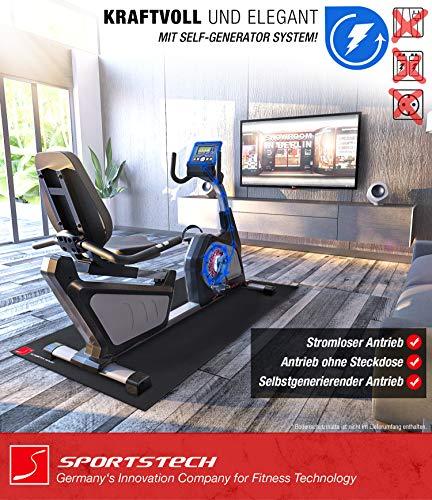 Sportstech ES600  Liegeergometer mit APP Steuerung und integriertem Stromgenerator - 4