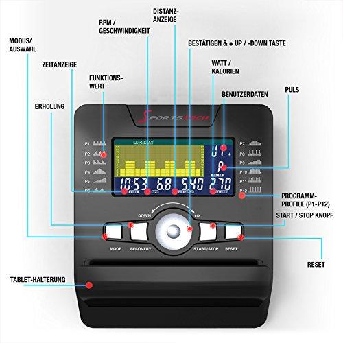 Sportstech ES600  Liegeergometer mit APP Steuerung und integriertem Stromgenerator - 8