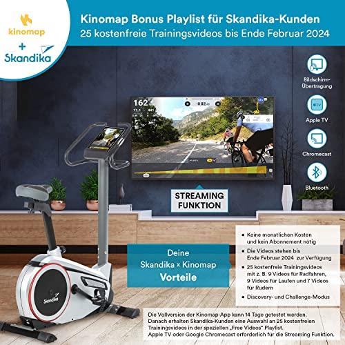 skandika Ergometer Morpheus, Fitnessbike, Heimtrainer mit Bluetooth, Pulsgurt, 32 einstellbare Widerstandseinstellung und Multifunktionscomputer mit Kalorienverbrauch, Puls - 2