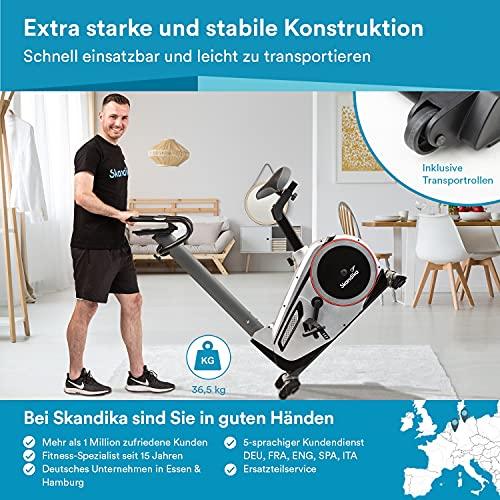 skandika Ergometer Morpheus, Fitnessbike, Heimtrainer mit Bluetooth, Pulsgurt, 32 einstellbare Widerstandseinstellung und Multifunktionscomputer mit Kalorienverbrauch, Puls - 4