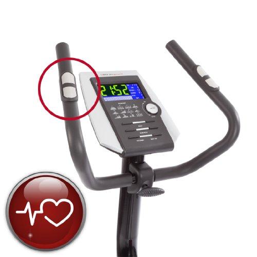 Ultrasport Heimtrainer Racer 800A mit Handpuls-Sensoren und Trinkflasche / Ergometer mit Multifunktionsdisplay sowie 12 Programmen mit 16 Widerstandsstufen – ideal für Fitness- und Ausdauertraining - 3