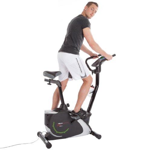 Ultrasport Heimtrainer Racer 800A mit Handpuls-Sensoren und Trinkflasche / Ergometer mit Multifunktionsdisplay sowie 12 Programmen mit 16 Widerstandsstufen – ideal für Fitness- und Ausdauertraining - 6