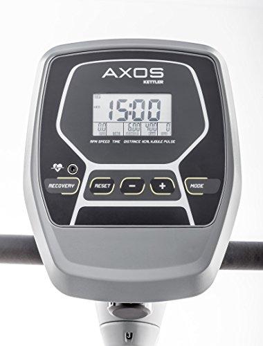 Kettler Heimtrainer Fahrrad AXOS Cycle M – mit 8 Widerstandsstufen – der ideale Hometrainer mit leicht bedienbarem Trainingscomputer – inkl. Handpulssensoren – verstellbarer Sattel – grau - 2