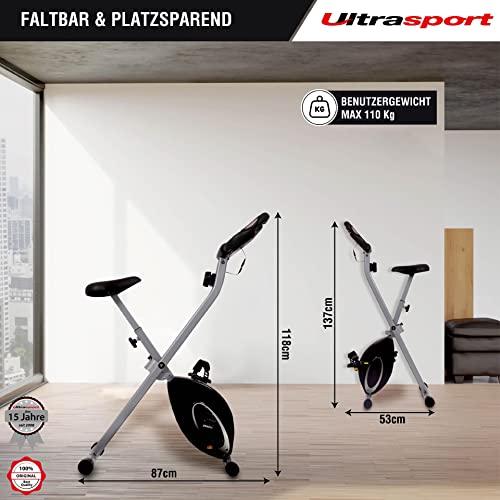 Ultrasport F-Bike, Heimtrainer, faltbares Fitnessfahrrad - 3