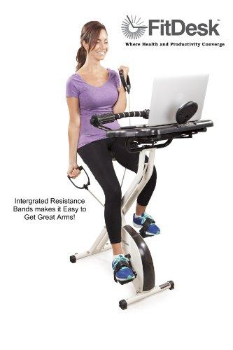 FitDesk v2. 0 Schreibtisch-Heimtrainer mit Massage-Stange - 6