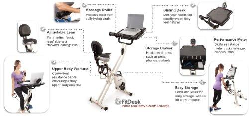FitDesk v2. 0 Schreibtisch-Heimtrainer mit Massage-Stange - 7