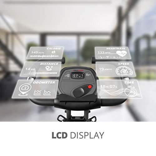 Ultrasport F-Bike 700BS Pro Heimtrainer mit Trainingscomputer und Handpulssensoren - 3