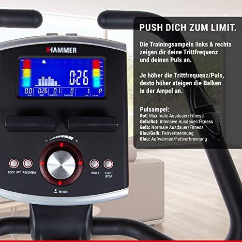 Premium HAMMER Ergometer Heimtrainer Cardio-Motion BT, APP Steuerung für Smartphone/Tablet: u.a. Kinomap, iConsole+, BitGym, tiefer Einstieg für gesundes Training, 22 Programme, 130 kg Benutzergewicht - 3