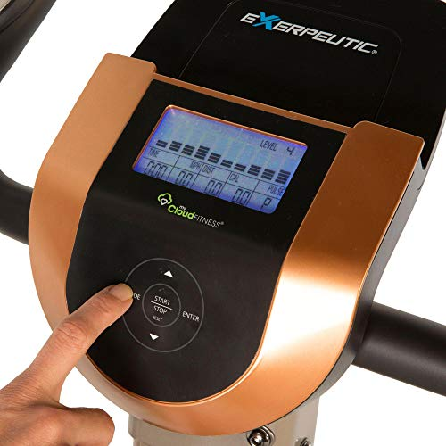 Exerpeutic Gold 575 XLS Bluetooth Smart Technology Faltbares Standrad für Heimtrainer - 4