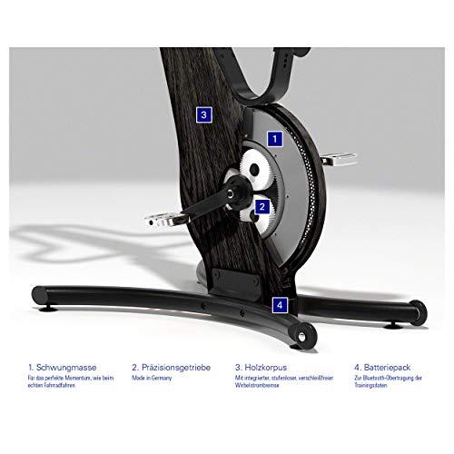 NOHrD Bike-Fahrradergometer, Heimtrainer, Fitnessbike, Holz - 5