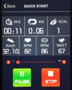 e-Health App im Quick Start Modus