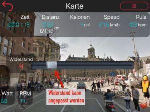 StreetView Ansicht mit Widerstandseinstellung