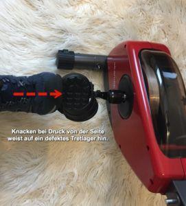Überprüfung des Tretlagers am Heimtrainer Fahrrad