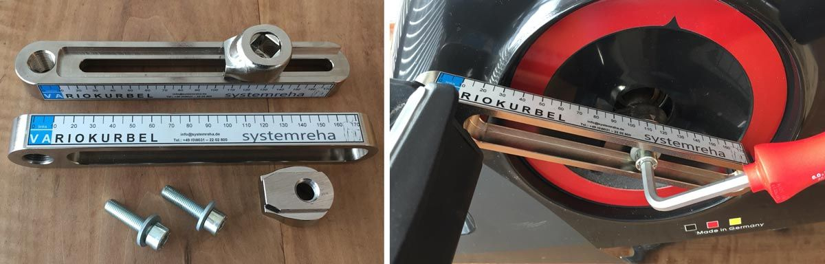invalidenkurbel u kurbelverk rzer praxistest ergometer heimtrainer. Black Bedroom Furniture Sets. Home Design Ideas