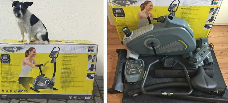 Verpackung und Anlieferung Kettler Axos Cycle M