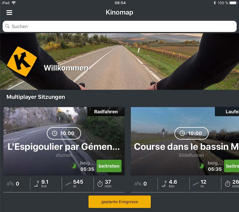 Kinomap Nutzung voraussichtlich ab April 2018