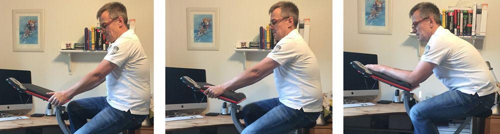 Ultrasport F-Bike Work Griff- und Sitzpositionen