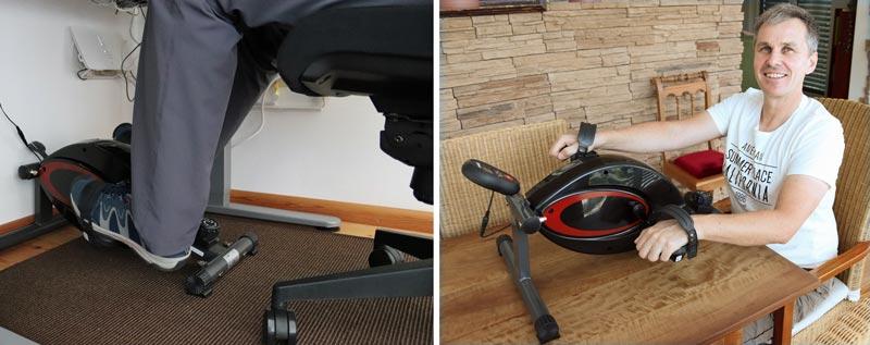 Desk Bike und Armtrainer in einem.
