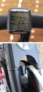 Montage Fahrradtacho am Spining Bike